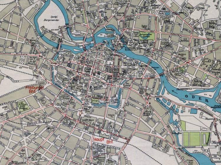 Plan Miasta Wrocławia z 1944r.