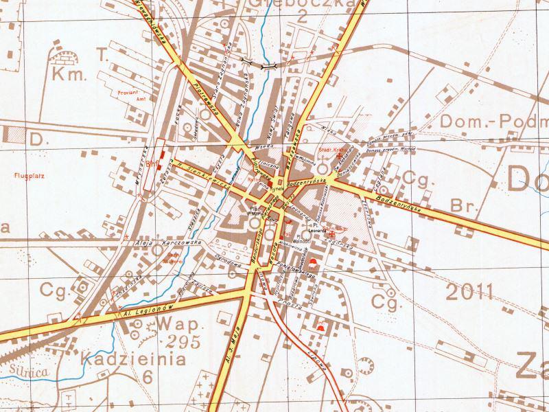 Plan Miasta Kielc z 1939r.