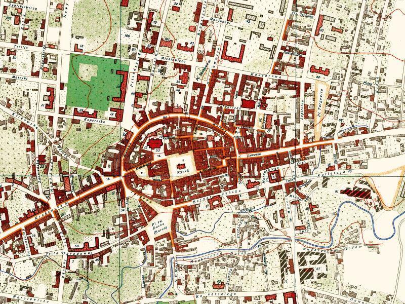 Plan Miasta Tarnowa z 1927r.