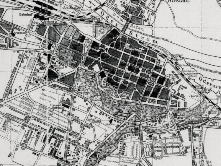 Plan Miasta Głogowa z 1910r.