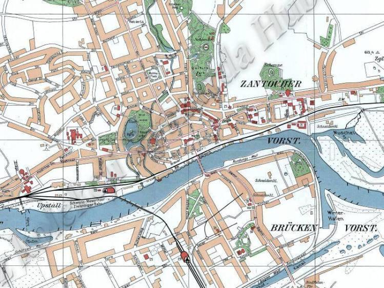 Plan Miasta Gorzowa z 1938r.