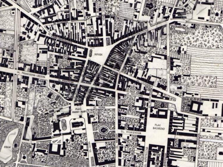 Plan Miasta Kielc z 1935r.