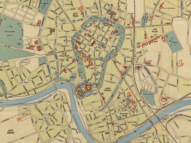 Plan Miasta Krakowa z 1930r.