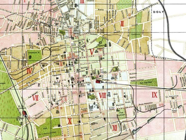 Plan Miasta Łodzi z 1930r.