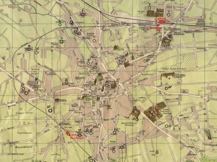 Plan Miasta Zielonej Góry z 1930r.