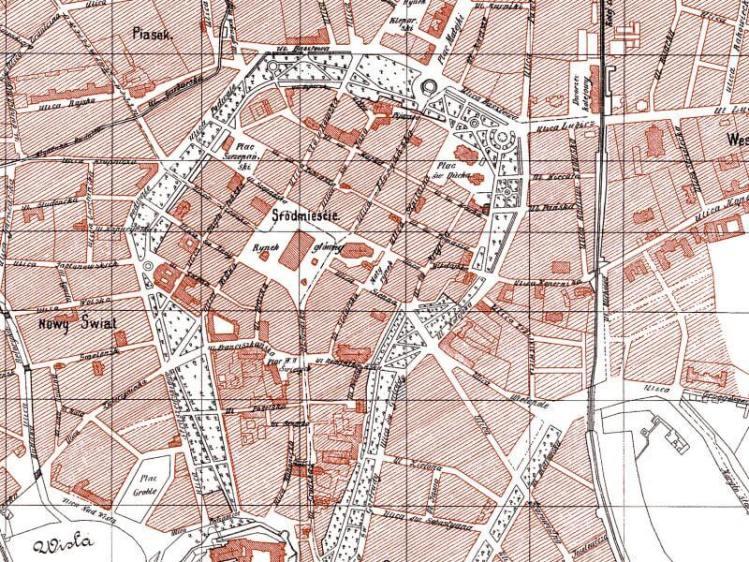 Plan Miasta Krakowa z 1900r.