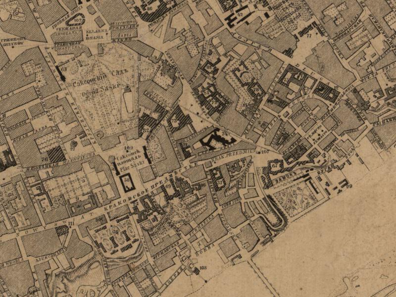 Plan Miasta Warszawy z 1862r.