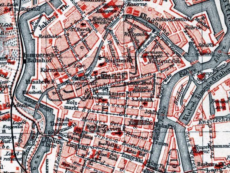 Plan Miasta Gdańska z 1895r.