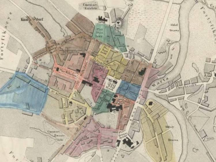 Plan Miasta Poznania z 1843r.