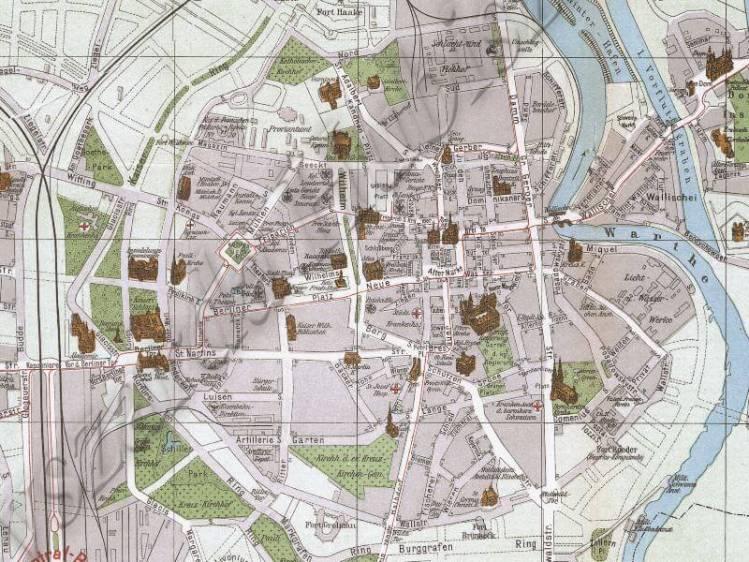 Plan Miasta Poznania z 1907r.