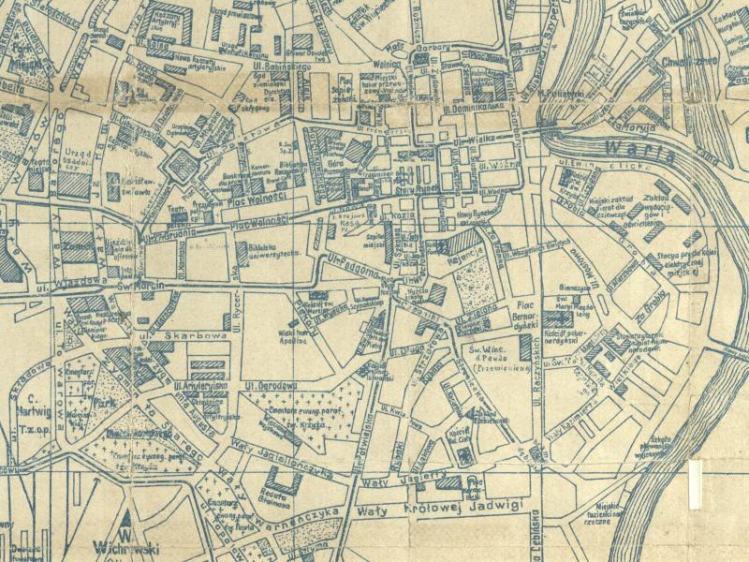 Plan Miasta Poznania z 1920r.