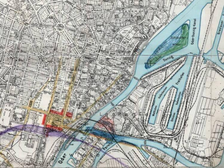 Plan Miasta Szczecina z 1937r.