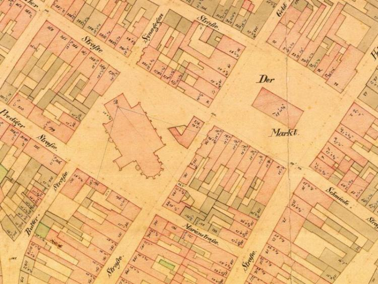 Plan Miasta Słupska z 1868r.