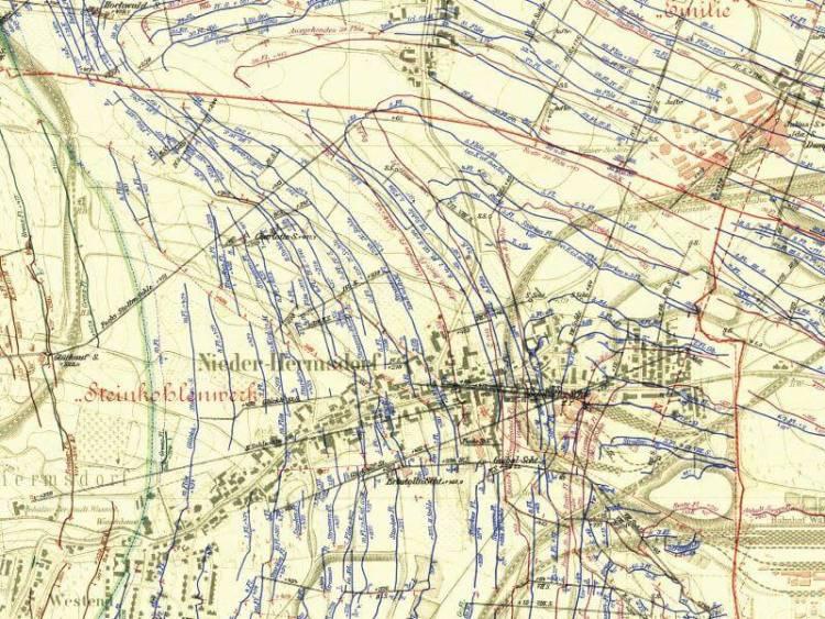 Mapa Górnicza Wałbrzycha z 1905r. (2)