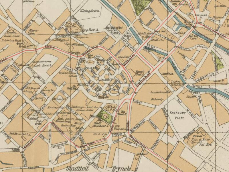 Plan Miasta Gliwic z 1935r.