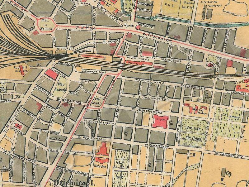 Plan Miasta Katowic z 1930r.