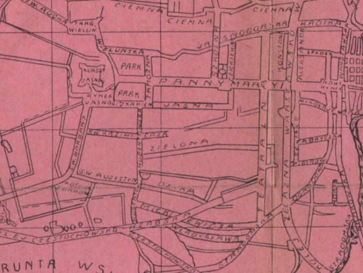 Plan Miasta Częstochowy z 1909r.