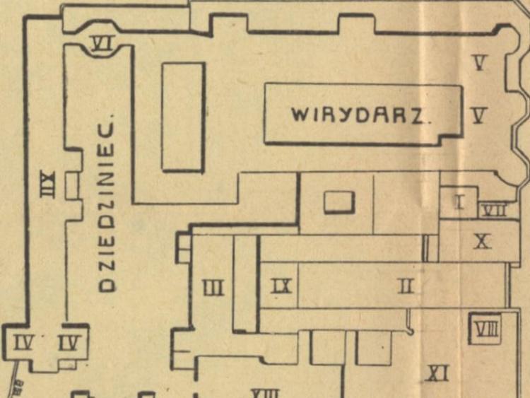 Plan Jasnej Góry z 1909r.