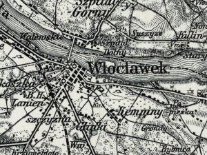 Mapa Włocławka z 1915r.