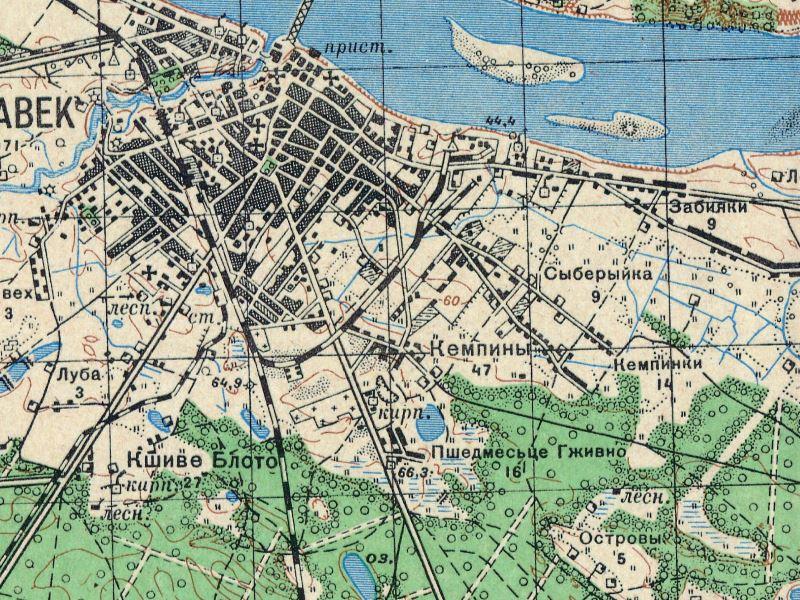 Mapa Włocławka z 1943r.