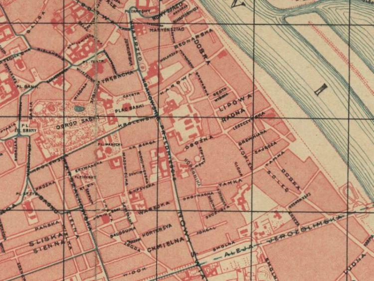 Plan Miasta Warszawy z 1912r.