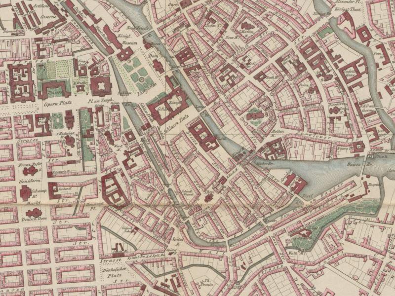 Plan Miasta Berlina 1849r.