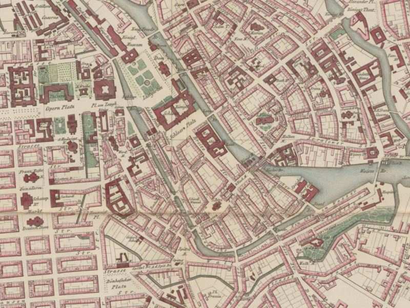 Plan Miasta Berlina 1849r.
