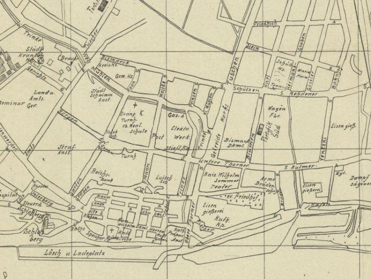 Plan Miasta Grudziądza z 1912r.