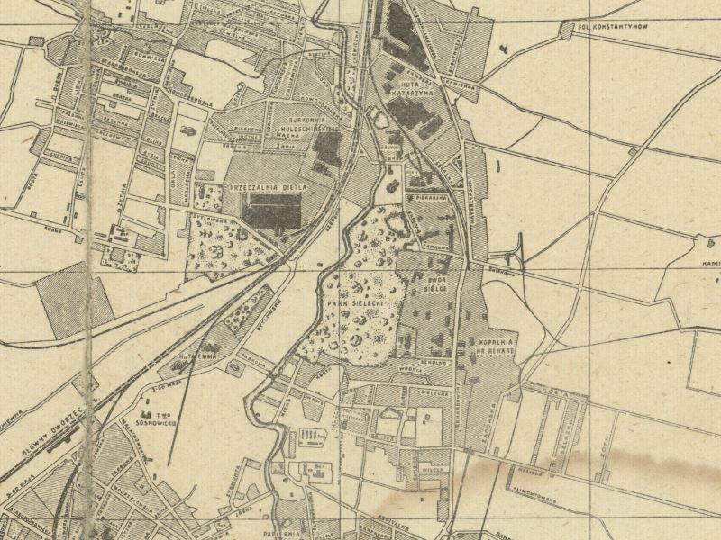 Plan Miasta Sosnowca z 1921r.