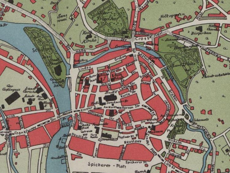 Plan Miasta Gubina z 1914r.