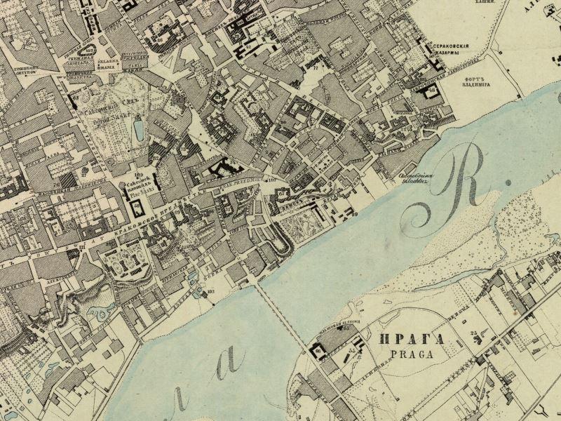 Plan Miasta Warszawy z 1856r.