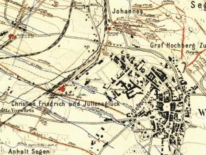 Mapa Górnicza Wałbrzycha z 1880r.