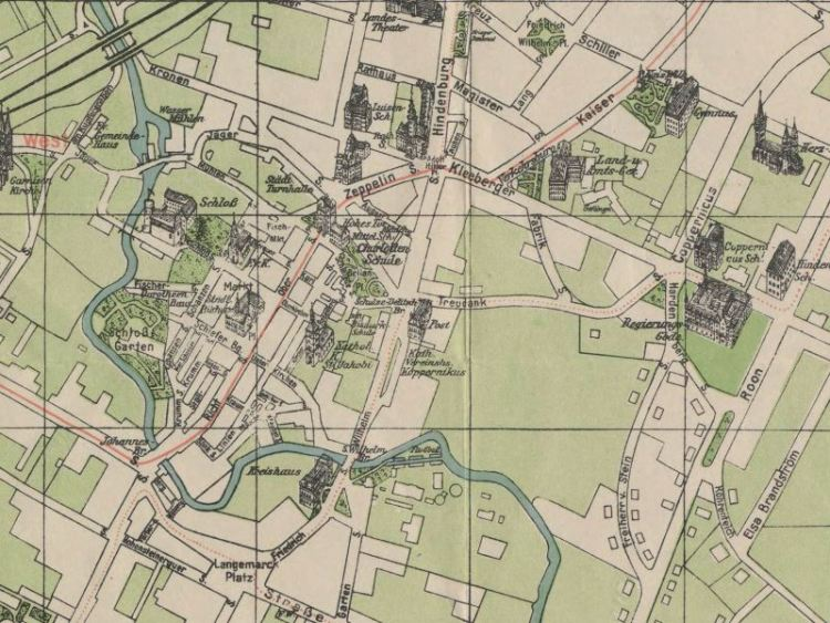 Plan Miasta Olsztyna z 1940r.