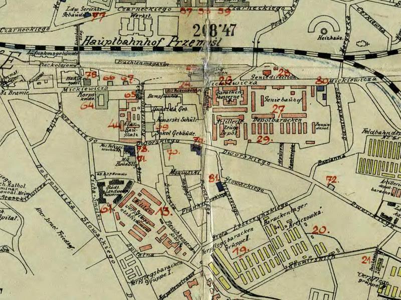 Plan Miasta Przemyśla z 1917r.