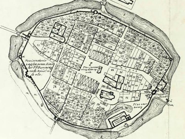 Plan Miasta Wielunia z 1799r.
