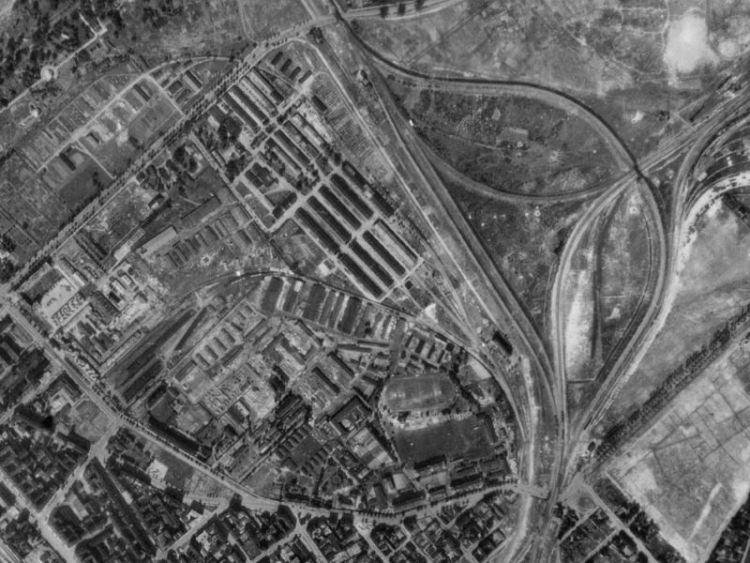 Zdjęcie lotnicze Warszawy i okolic (nr 522) z 1944r.