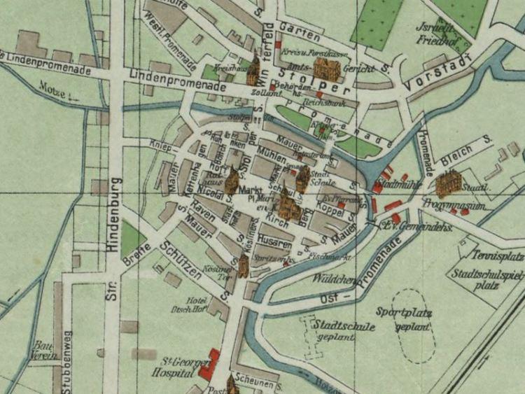 Plan Miasta Sławna z 1935r.
