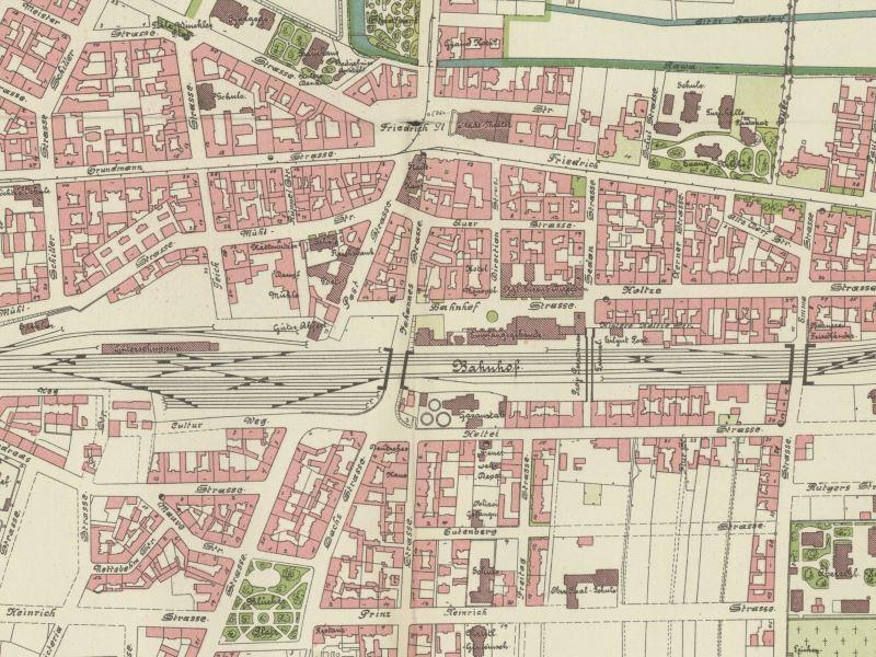 Plan Miasta Katowic z 1900r.