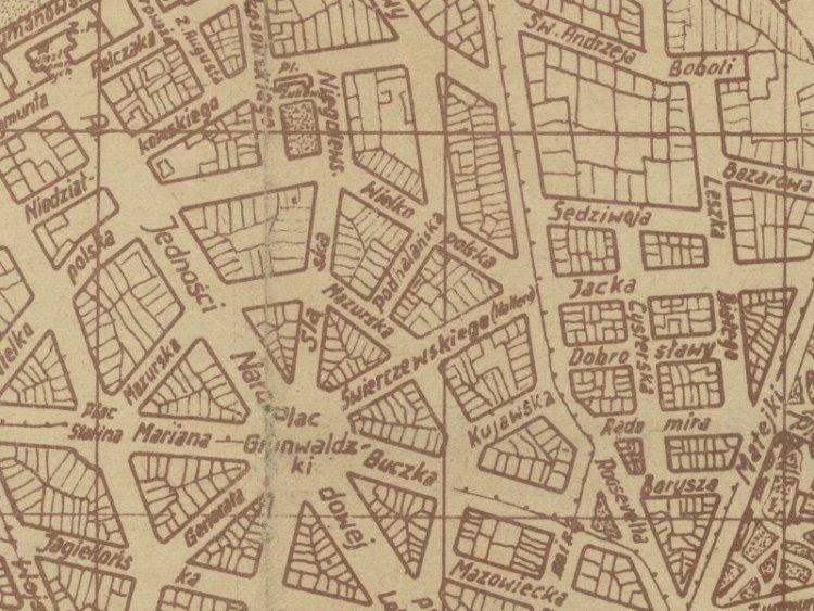 Plan Miasta Szczecina z 1945r.