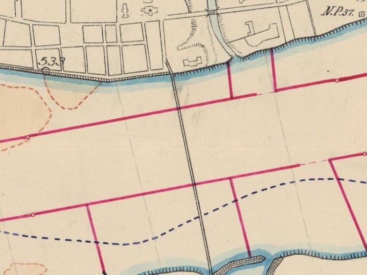 Mapa rzeki Wisły z okolic Włocławka z 1916r.