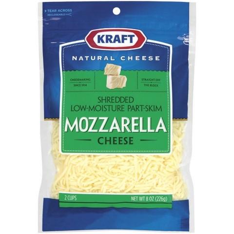 Starfish Market Kraft Shredded Mozzarella Cheese 8 Oz