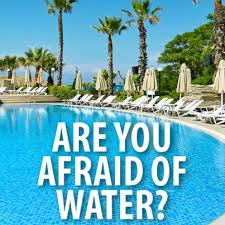 Being afraid of water as an adult is common.
