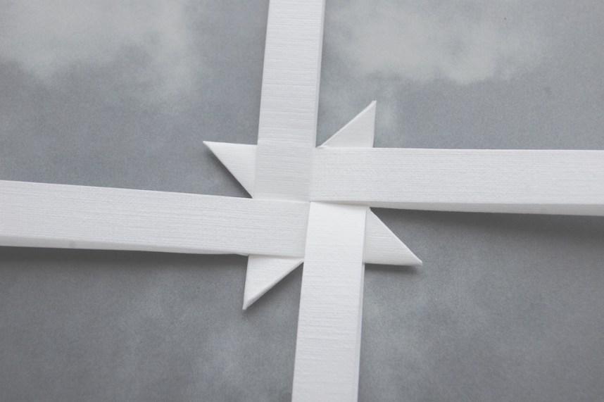 Trin 9 hvordan fletter man julestjerner så er alle retvinklede trekanter foldet