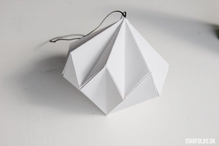 DIY Papirdiamant faerdigfoldet