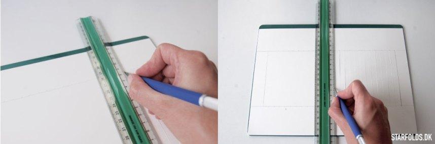 Flettet moenster i papir trin 2