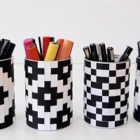 Et flettet mønster i papir