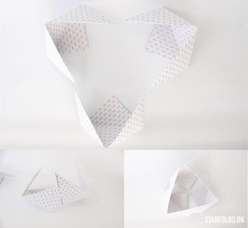 Trin 5 DIY geometriske aesker i papir - sæt delene sammen