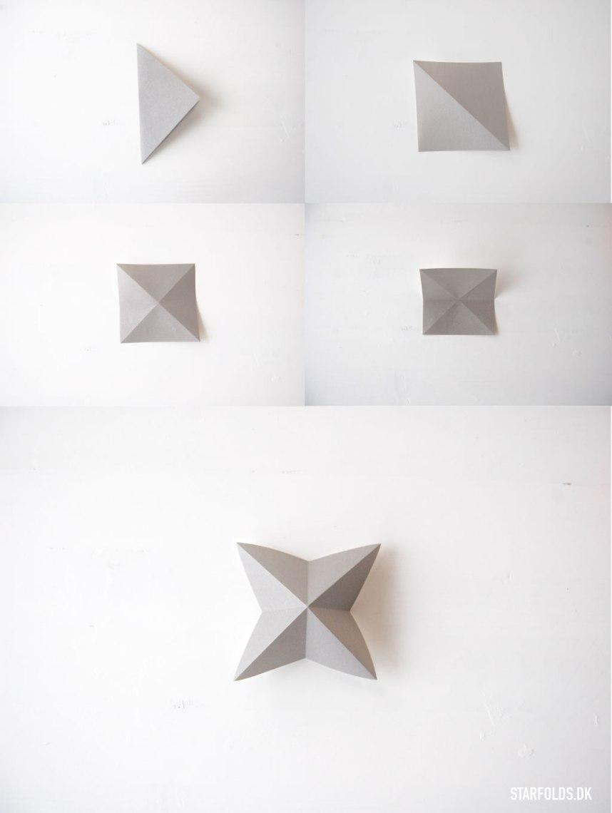 DIY Geometriske ophæng foldevejledning trin 1 til 4