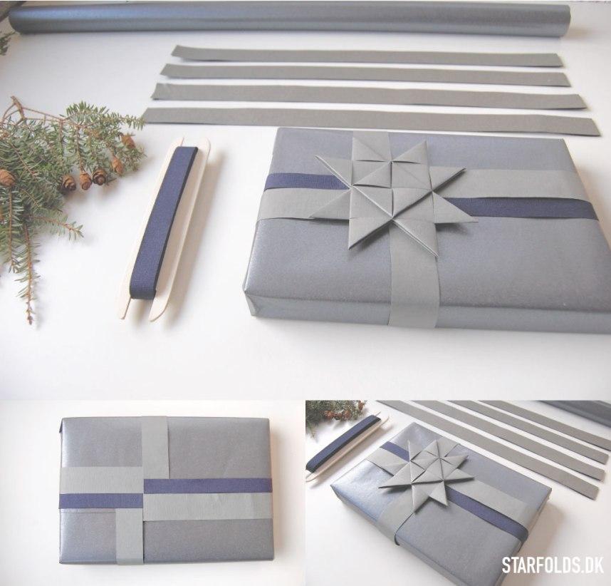 DIY_Gaveindpakning_af-strimler_til_julestjerner_graablaa