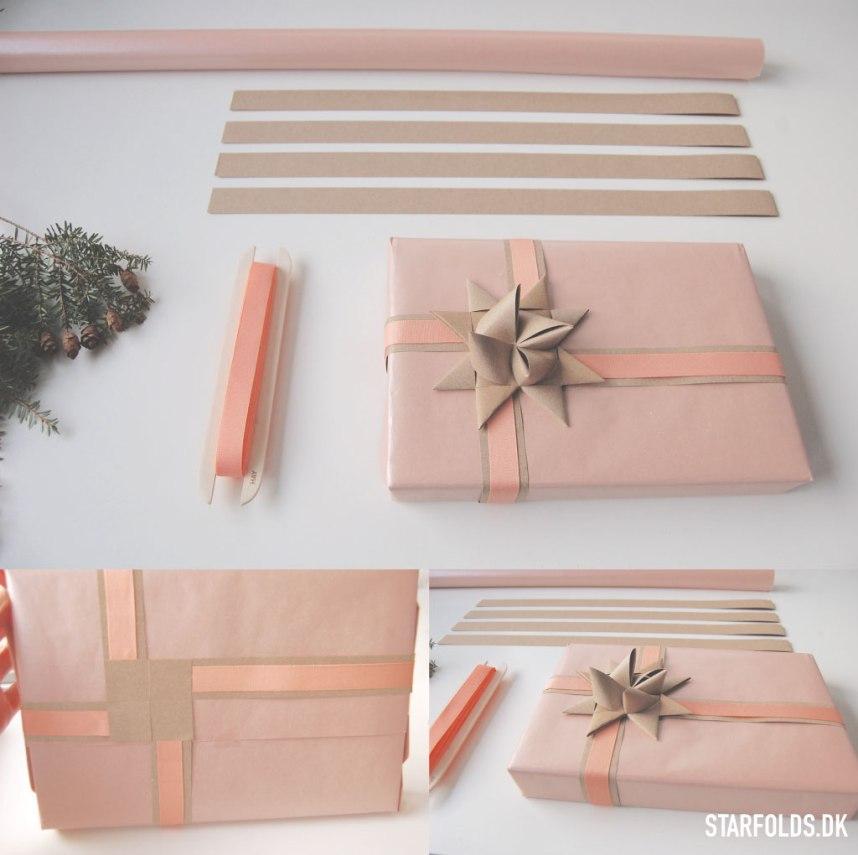 DIY_Gaveindpakning_af-strimler_til_julestjerner_nudebeige